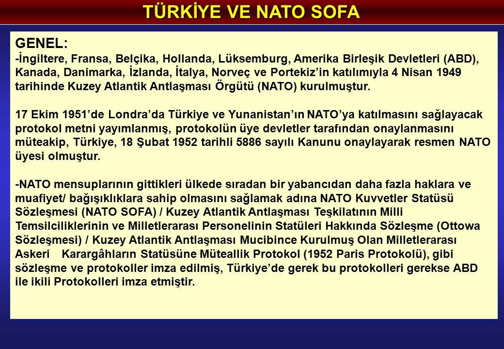 TÜRKİYE VE NATO SOFA GENEL: