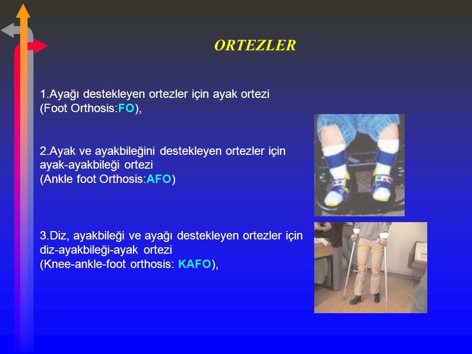 ORTEZLER 1.Ayağı destekleyen ortezler için ayak ortezi