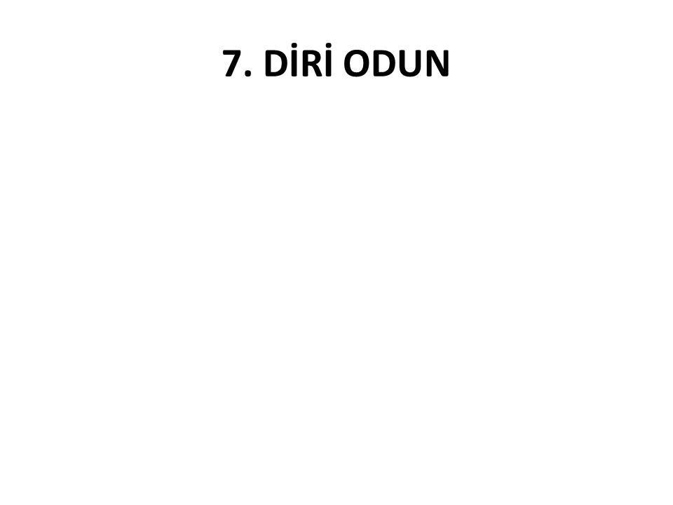 7. DİRİ ODUN