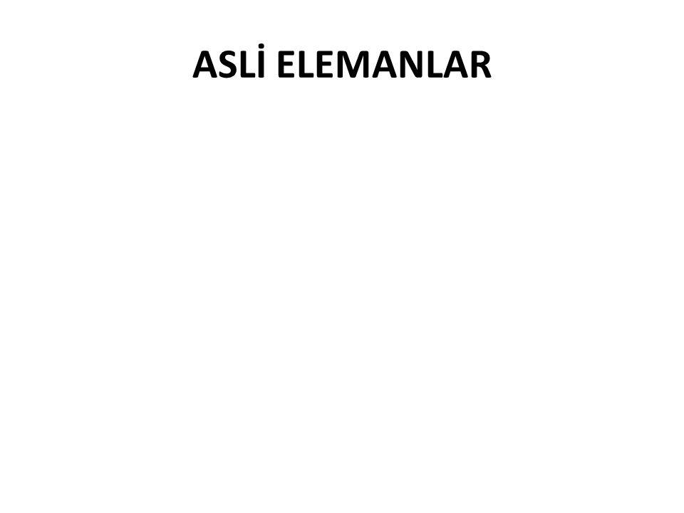 ASLİ ELEMANLAR