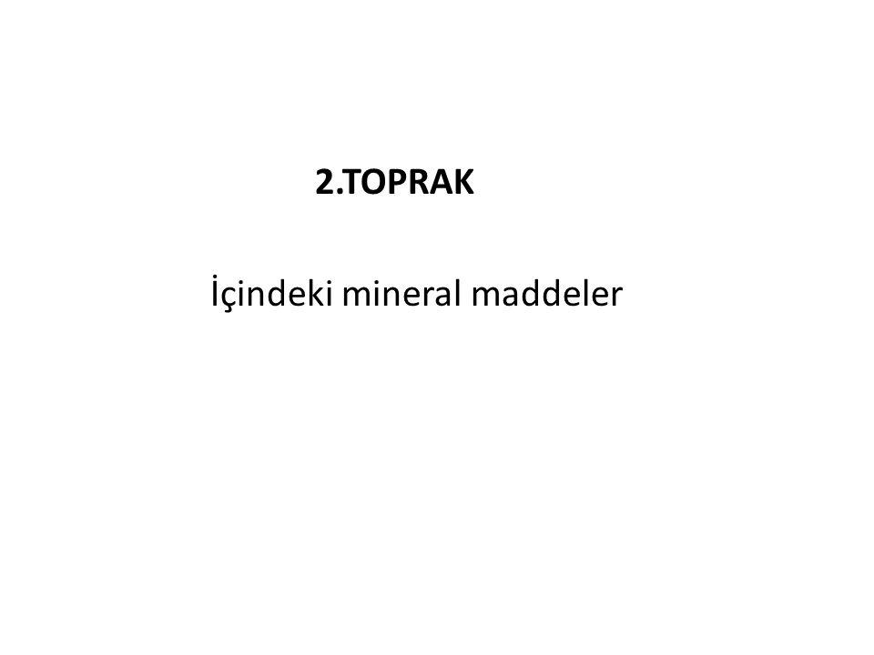 2.TOPRAK İçindeki mineral maddeler
