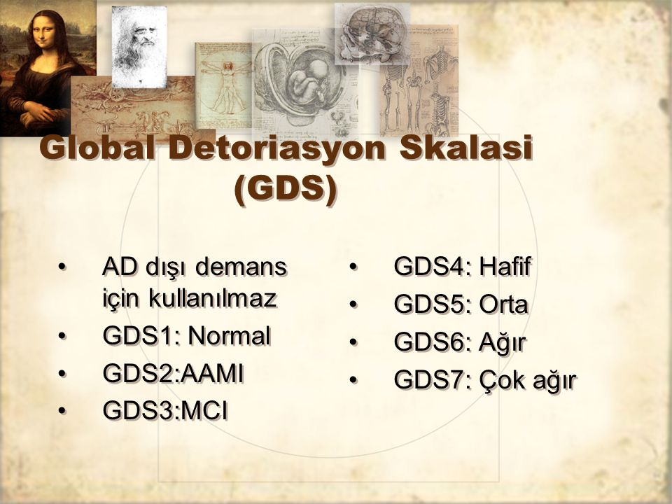 Global Detoriasyon Skalasi (GDS)