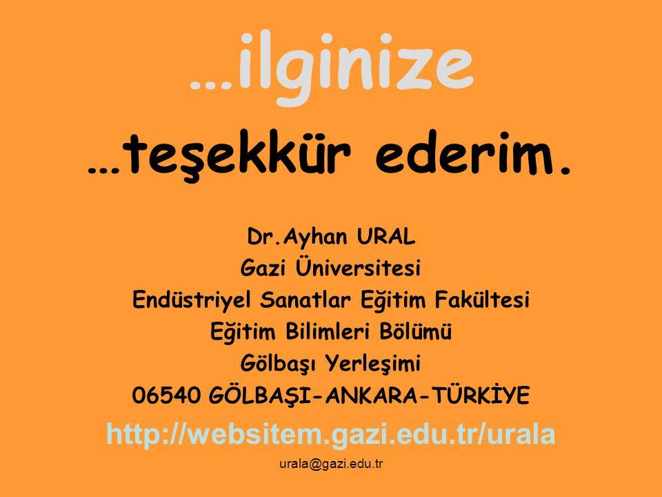 …ilginize …teşekkür ederim. http://websitem.gazi.edu.tr/urala
