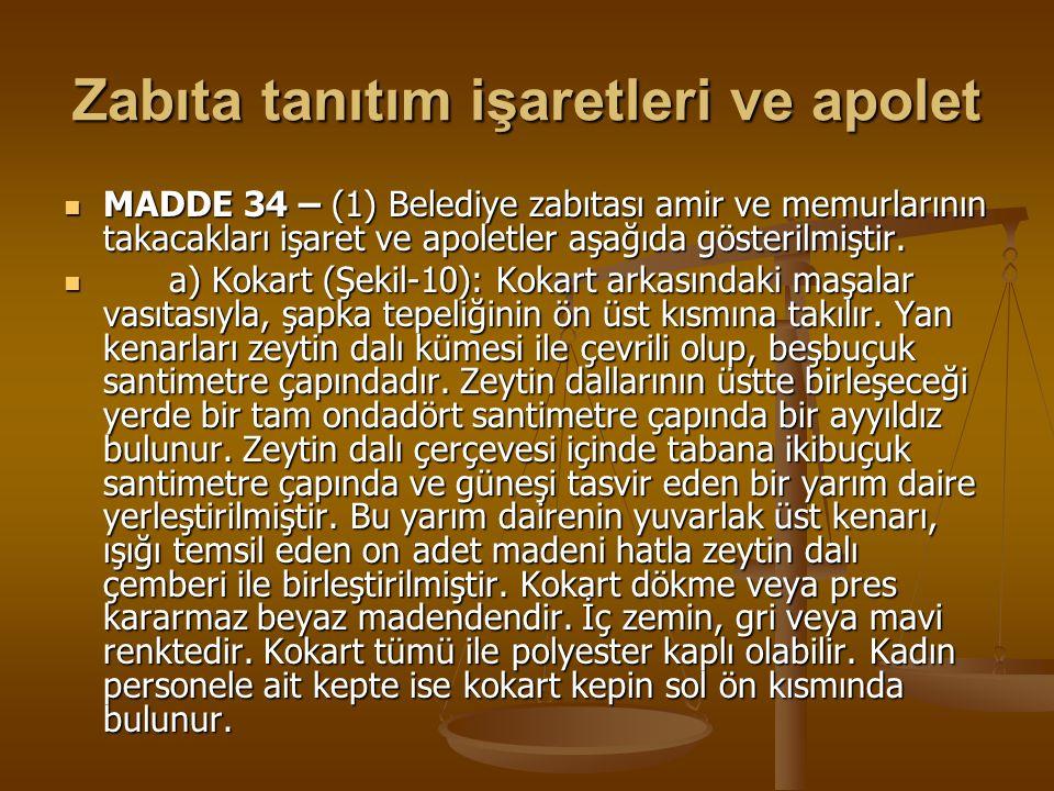 Zabıta tanıtım işaretleri ve apolet