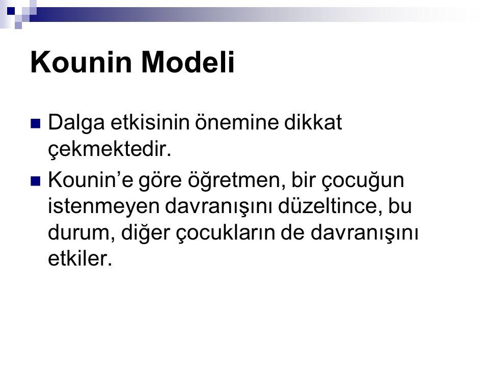 Kounin Modeli Dalga etkisinin önemine dikkat çekmektedir.