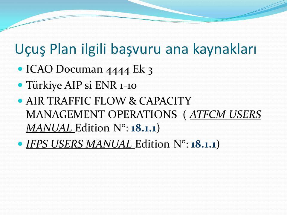 Uçuş Plan ilgili başvuru ana kaynakları