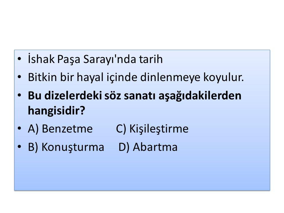 İshak Paşa Sarayı nda tarih