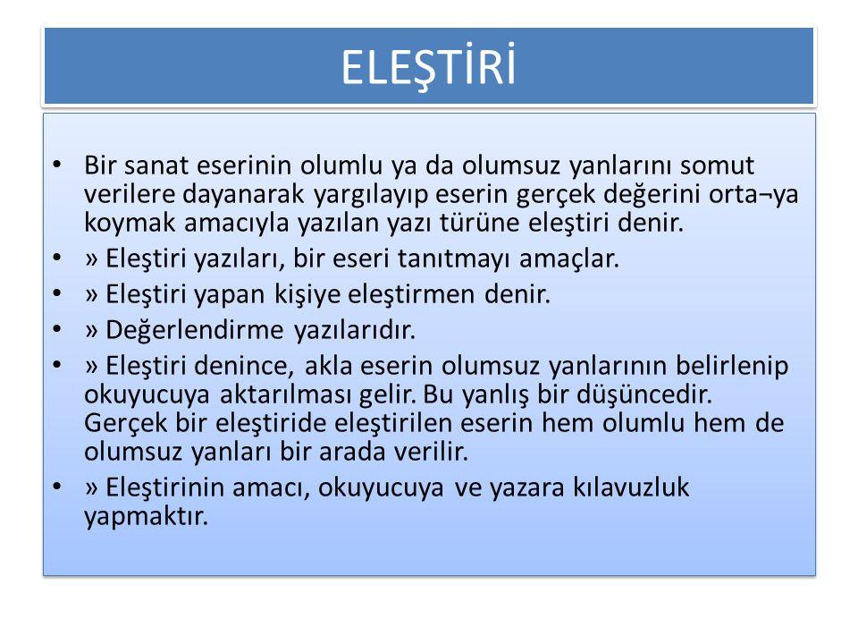 ELEŞTİRİ