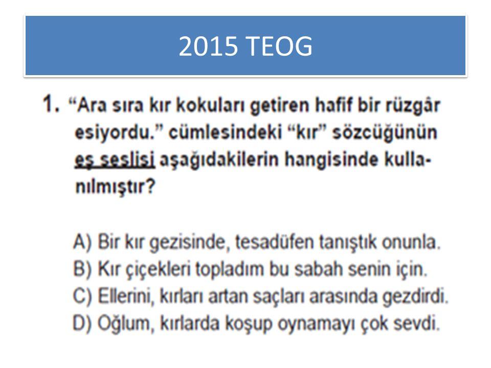 2015 TEOG