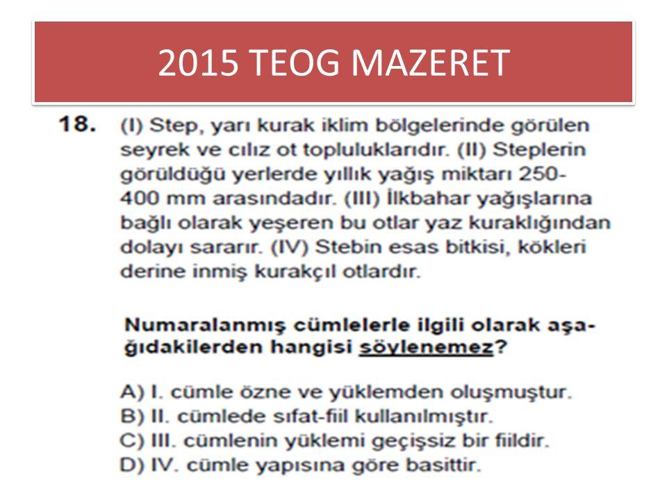 2015 TEOG MAZERET