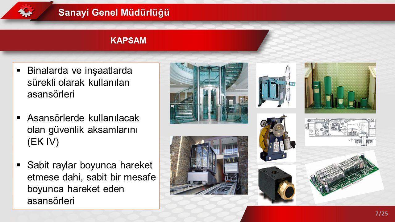 Binalarda ve inşaatlarda sürekli olarak kullanılan asansörleri