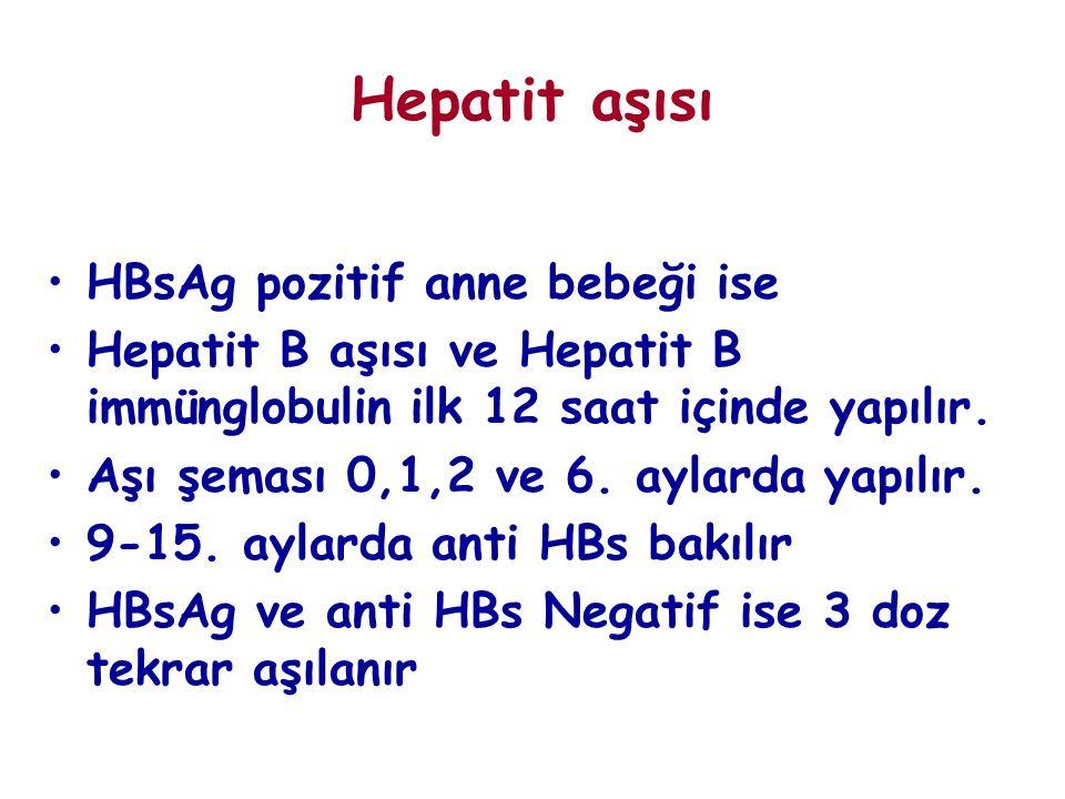 Hepatit aşısı HBsAg pozitif anne bebeği ise
