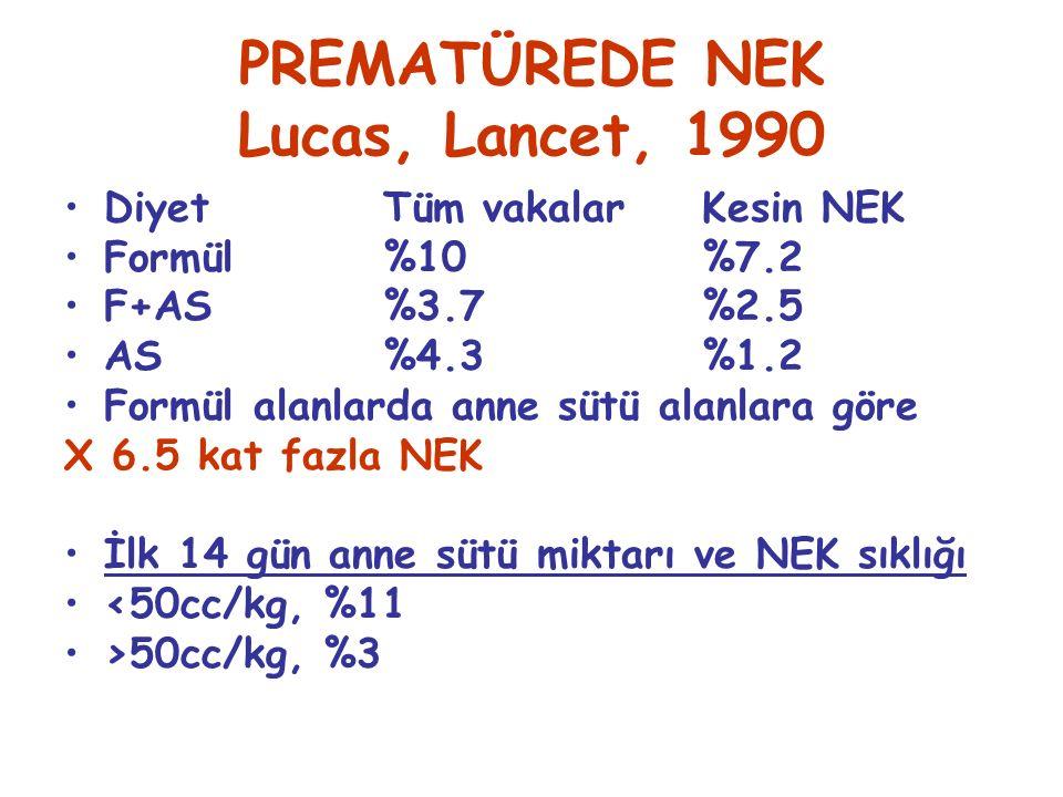 PREMATÜREDE NEK Lucas, Lancet, 1990