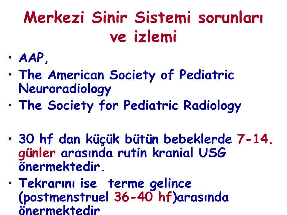 Merkezi Sinir Sistemi sorunları ve izlemi