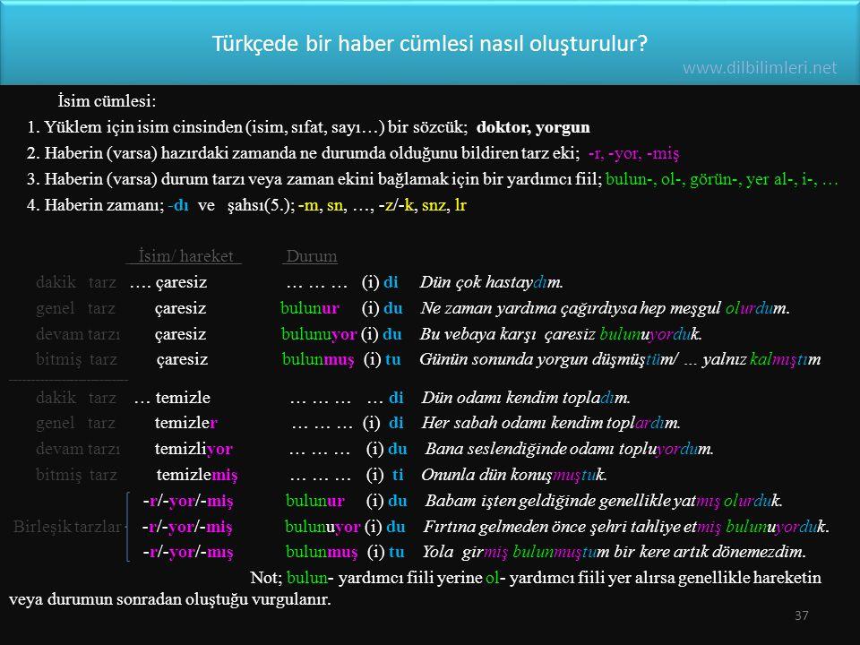 Türkçede bir haber cümlesi nasıl oluşturulur