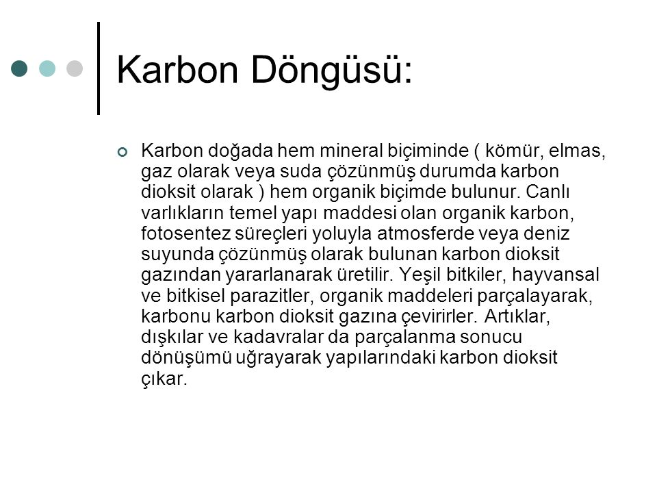 Karbon Döngüsü: