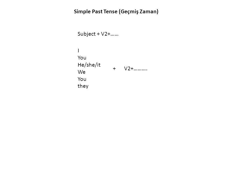 Simple Past Tense (Geçmiş Zaman)