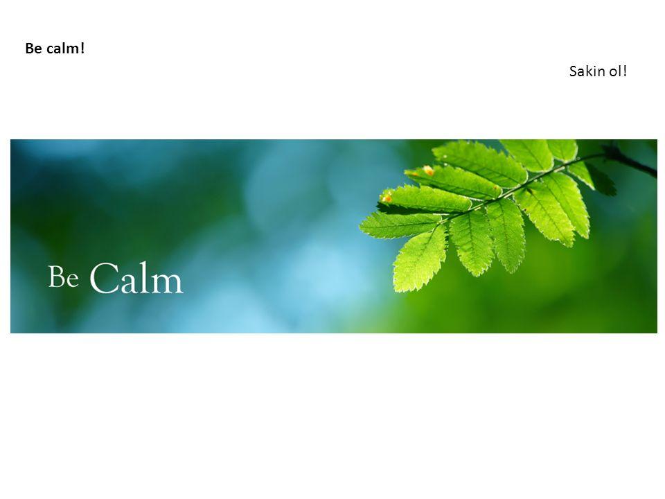Be calm! Sakin ol!