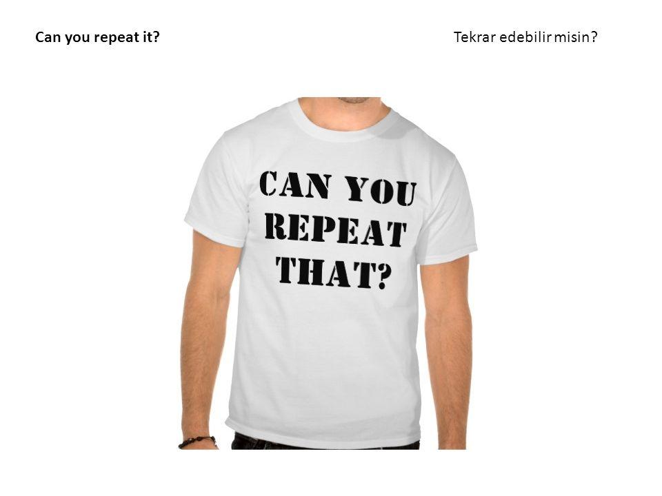 Can you repeat it Tekrar edebilir misin