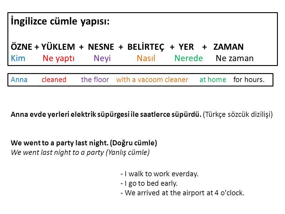 İngilizce cümle yapısı: