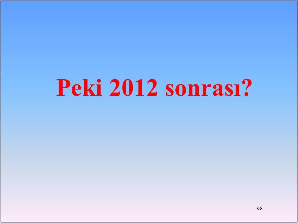 Peki 2012 sonrası