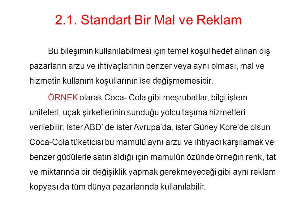 2.1. Standart Bir Mal ve Reklam