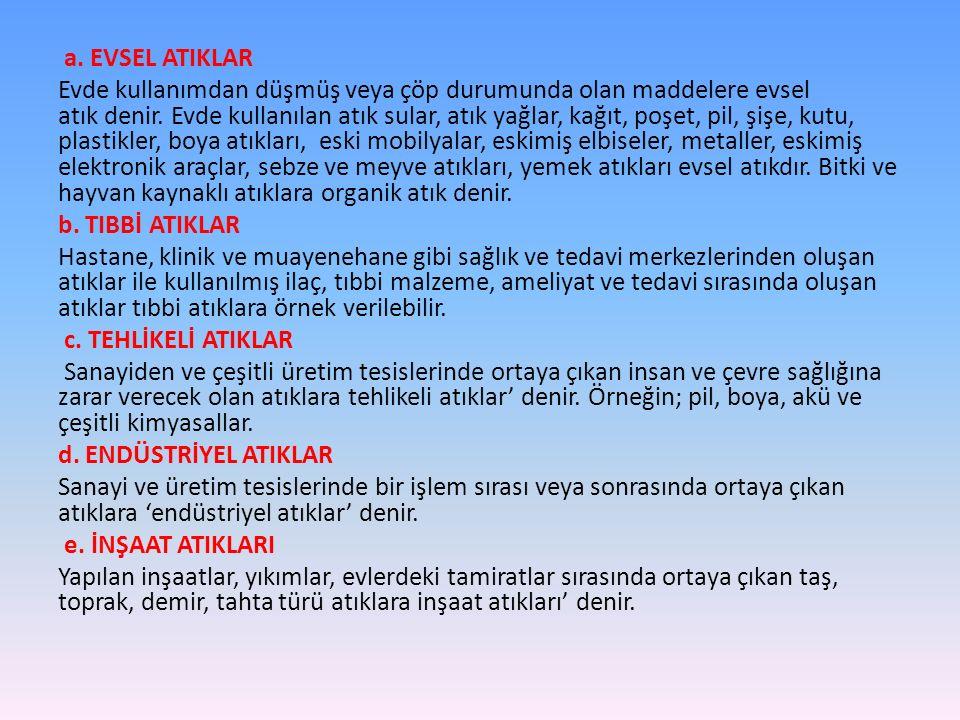 a. EVSEL ATIKLAR