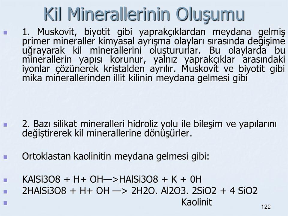 Kil Minerallerinin Oluşumu