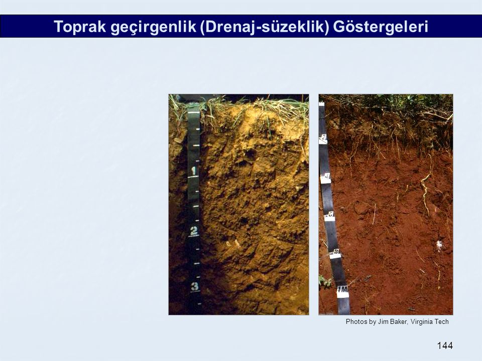 Toprak geçirgenlik (Drenaj-süzeklik) Göstergeleri