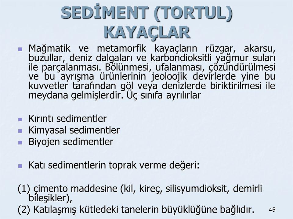 SEDİMENT (TORTUL) KAYAÇLAR