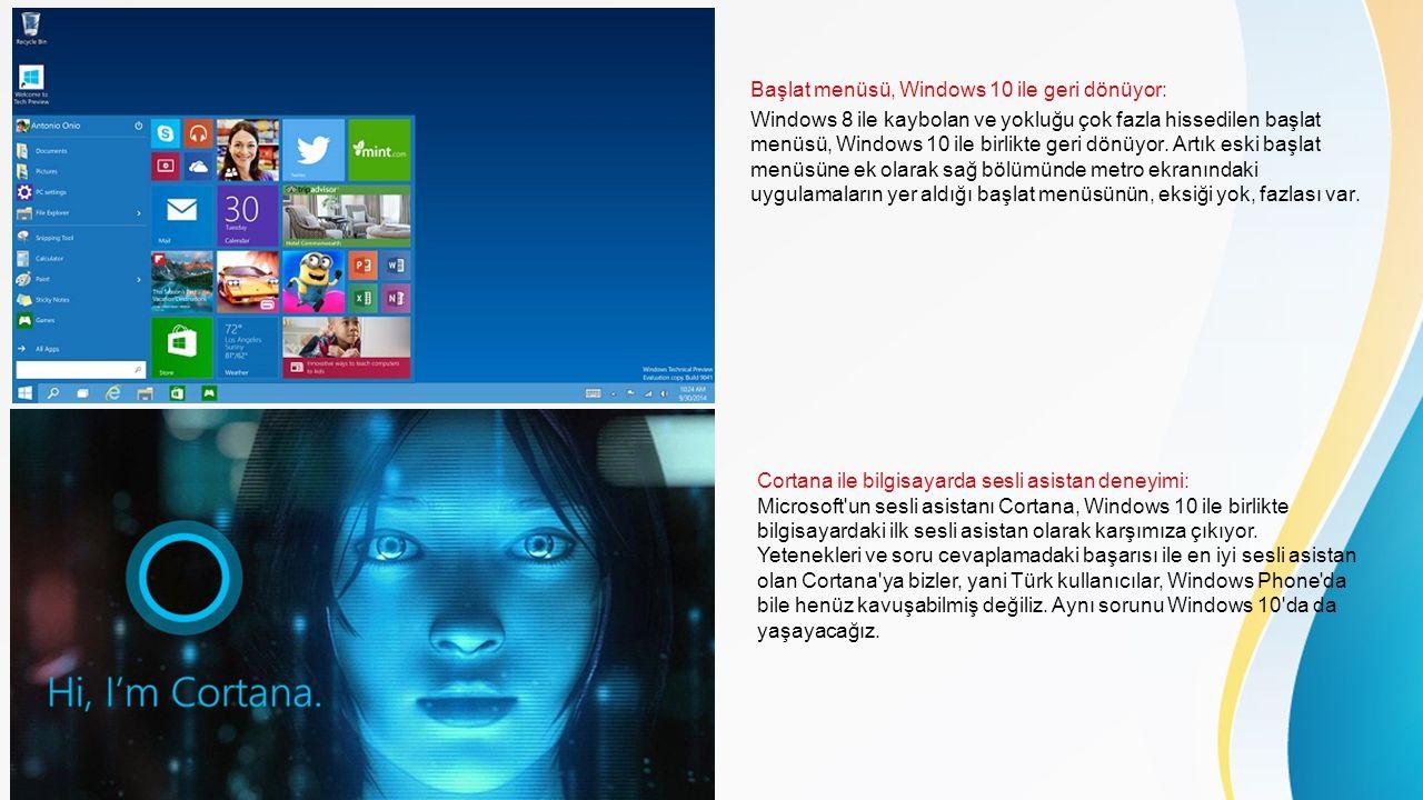 Başlat menüsü, Windows 10 ile geri dönüyor: