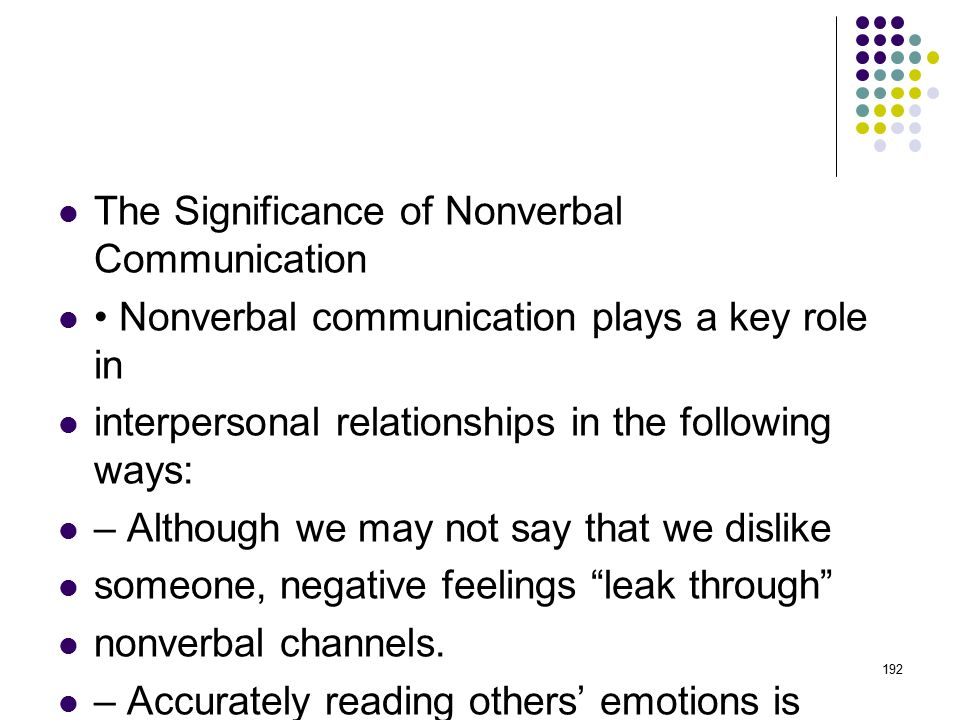 The Significance of Nonverbal Communication