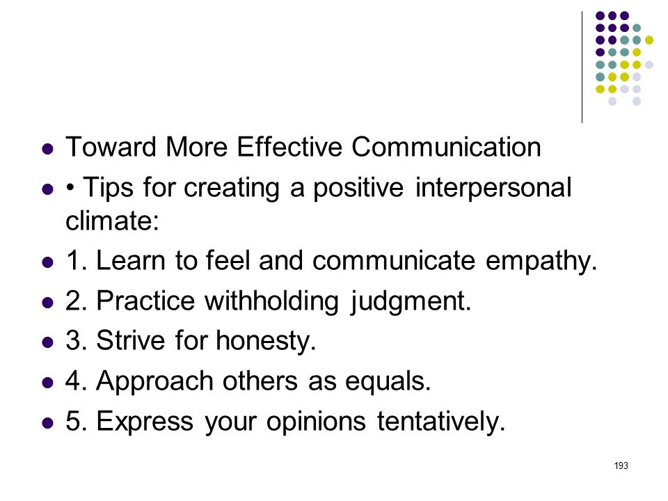 Toward More Effective Communication