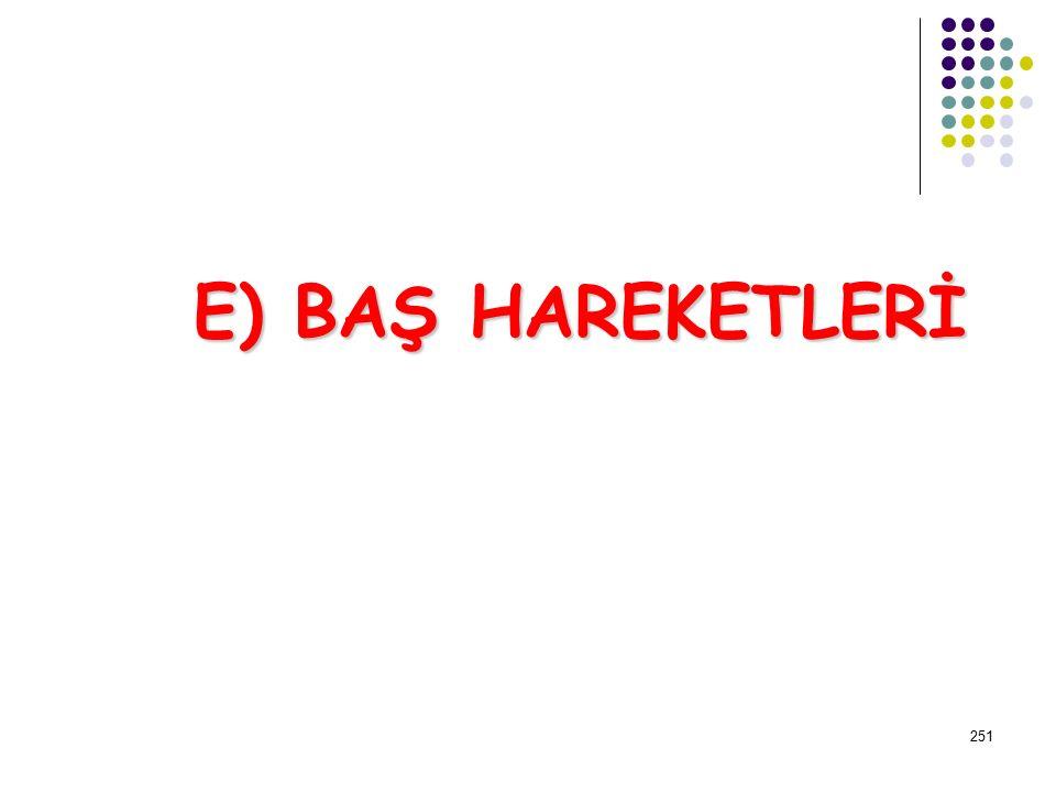 E) BAŞ HAREKETLERİ