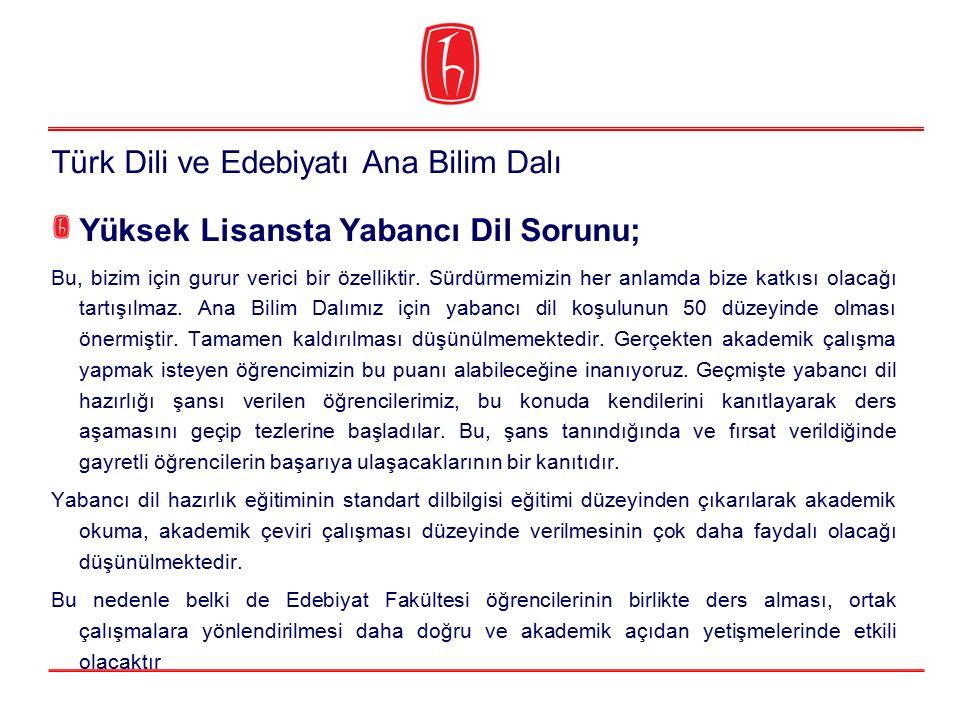 Türk Dili ve Edebiyatı Ana Bilim Dalı