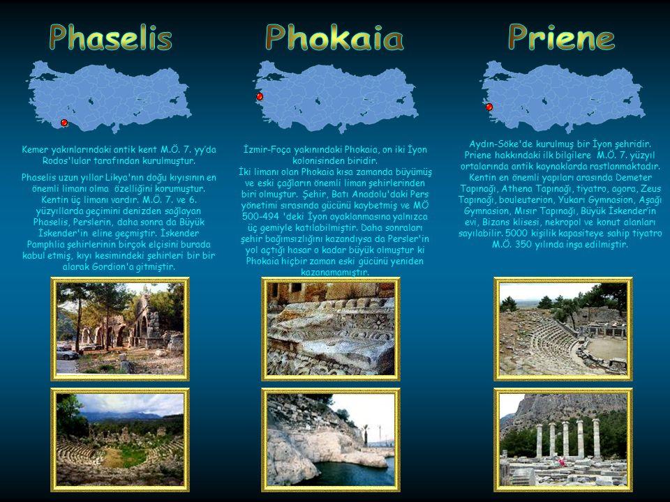 Phaselis Phokaia Priene
