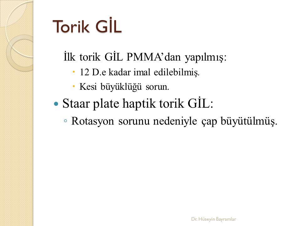 Torik GİL Staar plate haptik torik GİL: