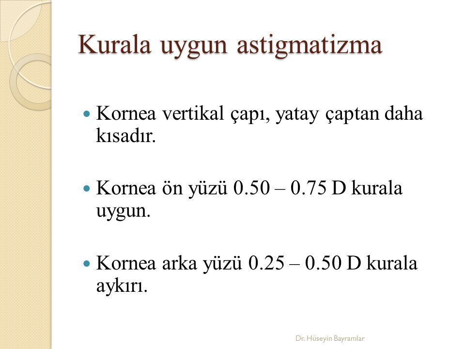 Kurala uygun astigmatizma
