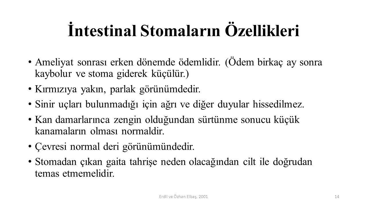 İntestinal Stomaların Özellikleri