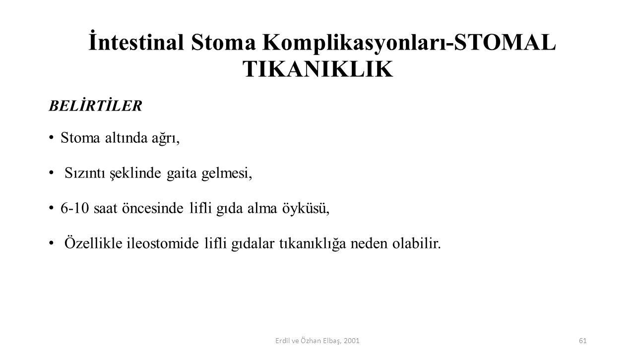 İntestinal Stoma Komplikasyonları-STOMAL TIKANIKLIK