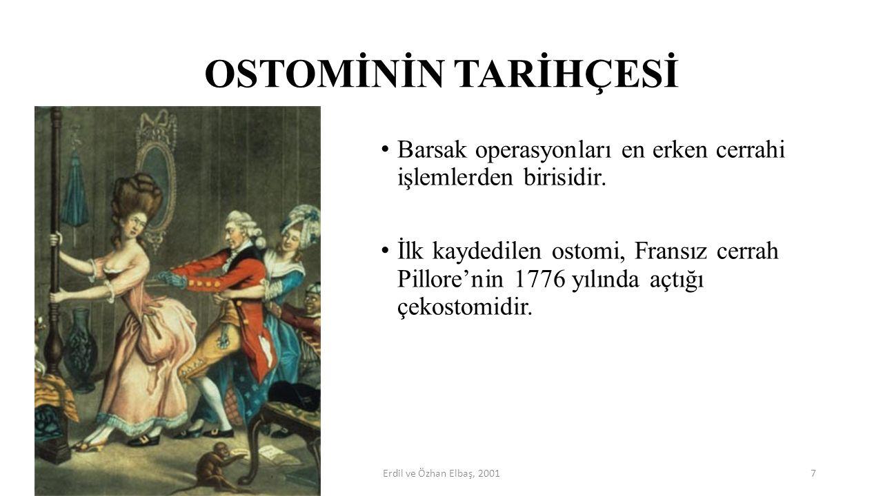 OSTOMİNİN TARİHÇESİ Barsak operasyonları en erken cerrahi işlemlerden birisidir.