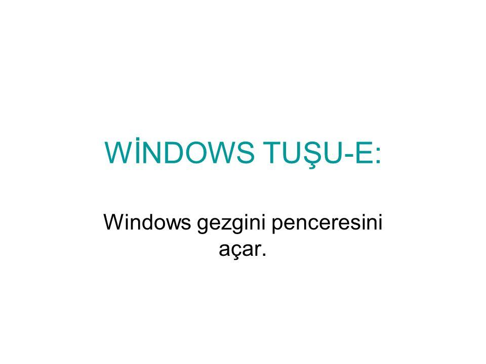 Windows gezgini penceresini açar.