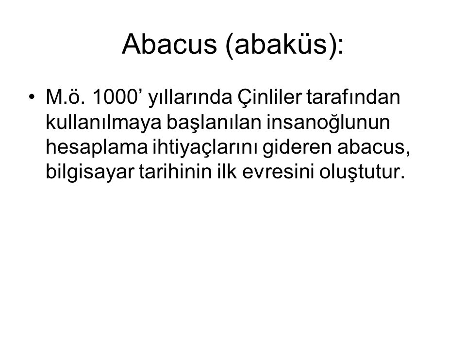 Abacus (abaküs):