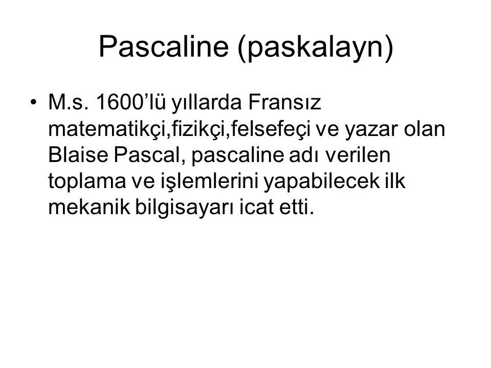 Pascaline (paskalayn)
