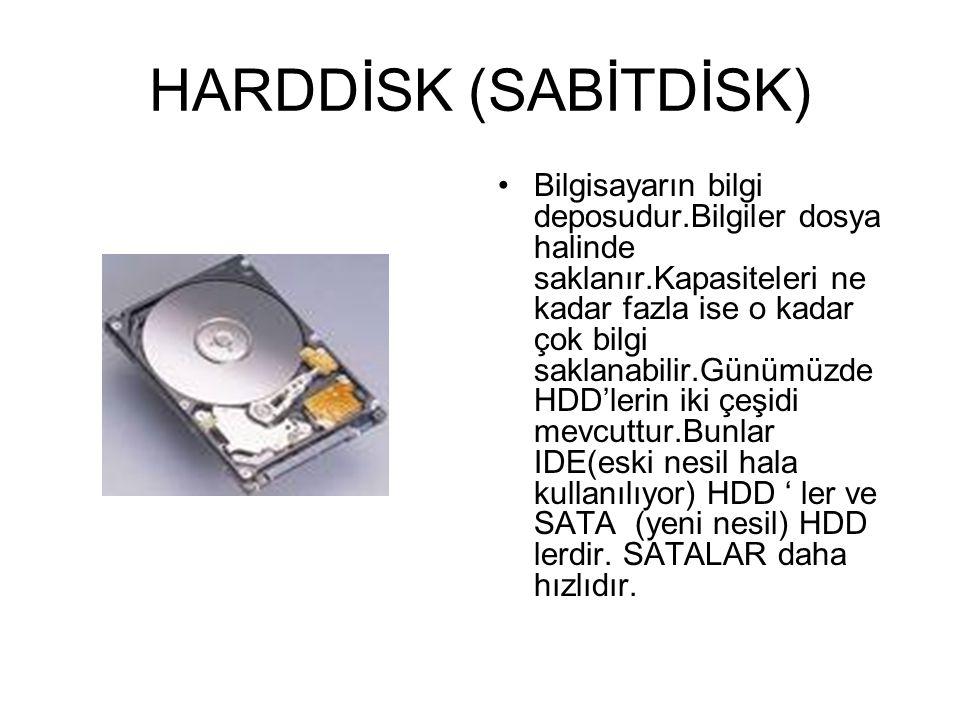 HARDDİSK (SABİTDİSK)