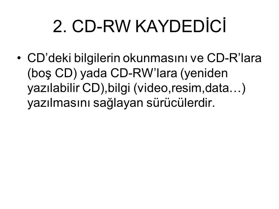 2. CD-RW KAYDEDİCİ