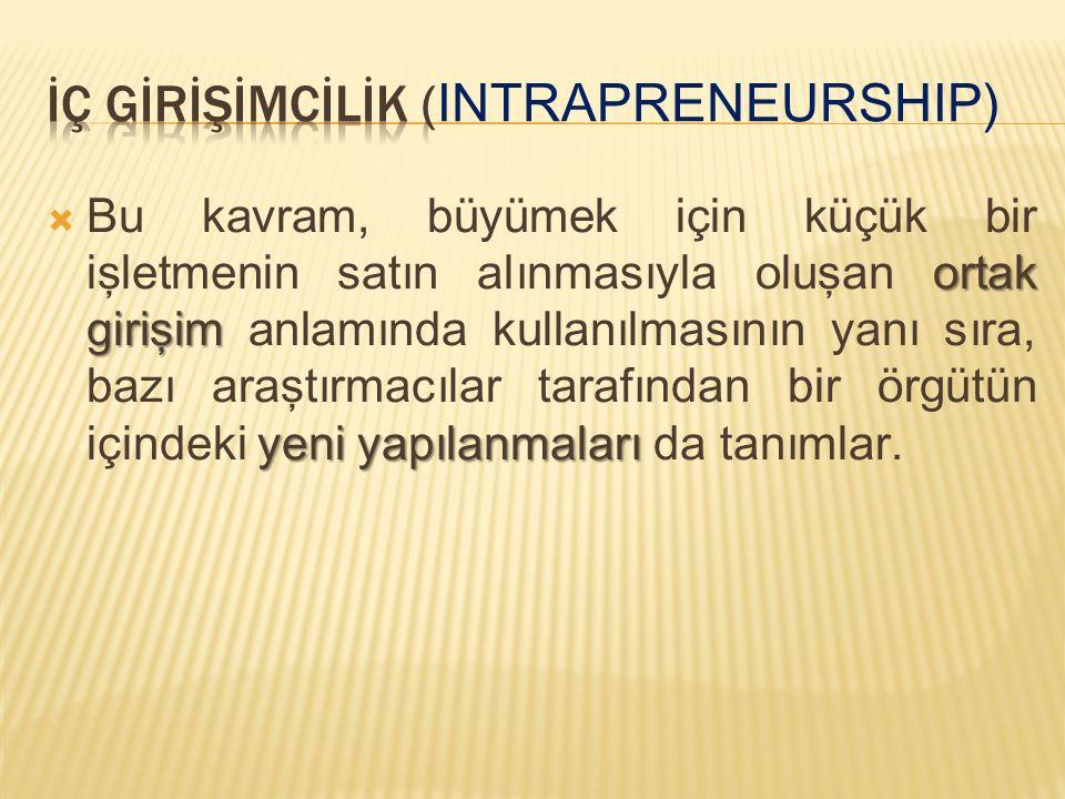 İÇ GİRİŞİMCİLİK (Intrapreneurship)