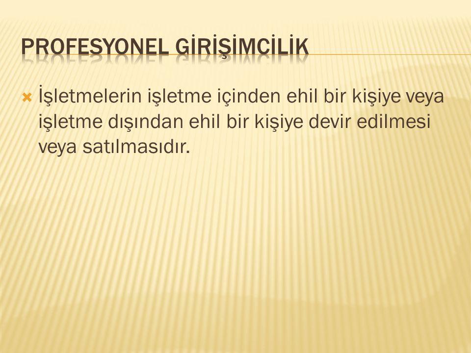 PROFESYONEL GİRİŞİMCİLİK