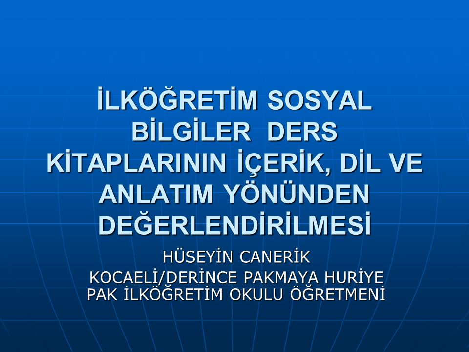 KOCAELİ/DERİNCE PAKMAYA HURİYE PAK İLKÖĞRETİM OKULU ÖĞRETMENİ