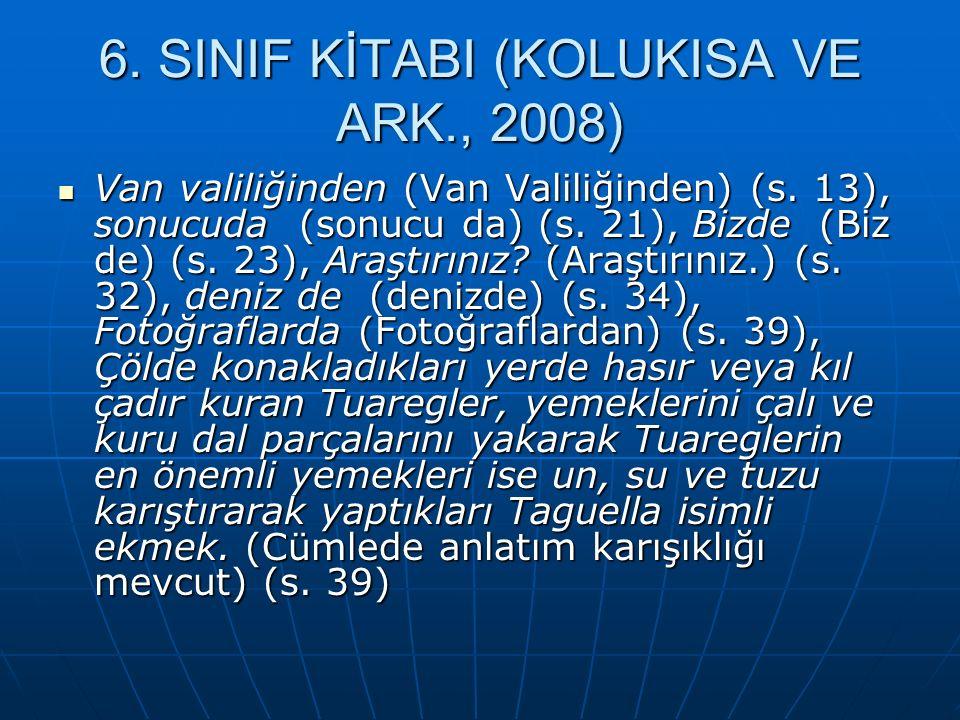 6. SINIF KİTABI (KOLUKISA VE ARK., 2008)